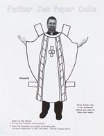 Priest Paper Doll With Vestments