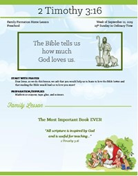 Family Formation Home Lessons - Preschool